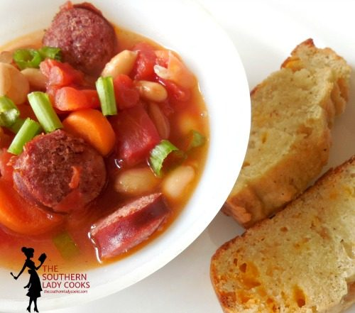 Quick Sausage Bean Soup