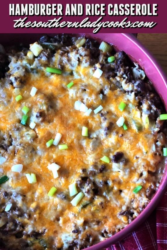 Hamburger and Rice Casserole