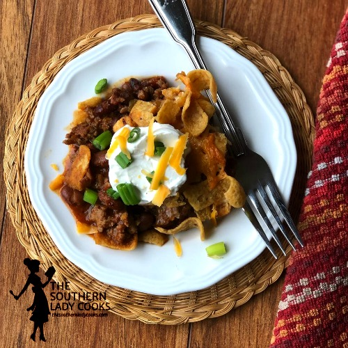 Spicy Frito Chili Pie
