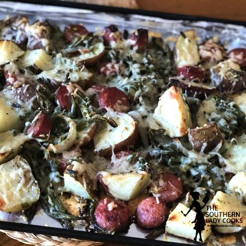 Roasted Sausage Potato Bake