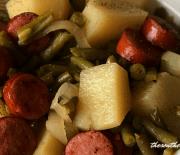 SAUSAGE, GREEN BEANS & POTATOES