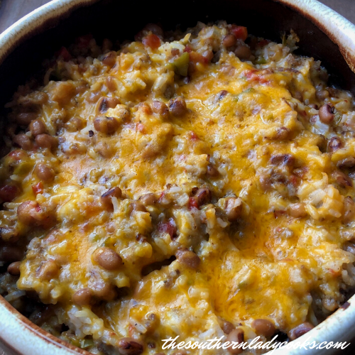Black-Eyed Pea Casserole - The Southern Lady Cooks