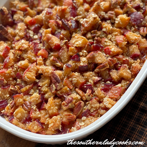 Easy Plum Crisp - The Southern Lady Cooks