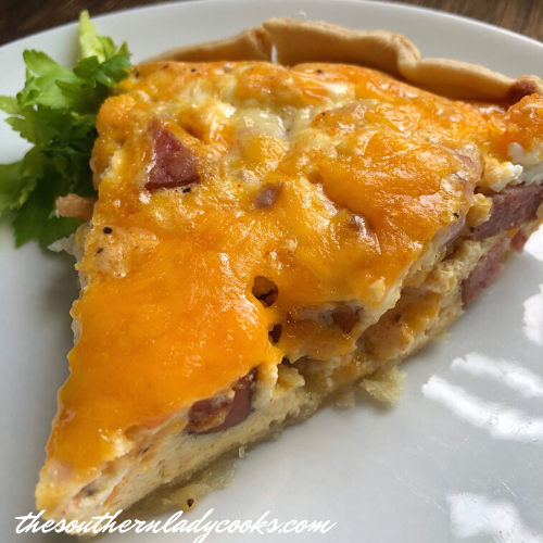 Cheesy Shrimp and Sausage Quiche The Southern Lady Cooks
