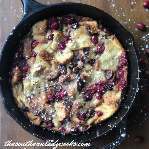 Cranberry Pecan Bread Pudding The Southern Lady Cooks