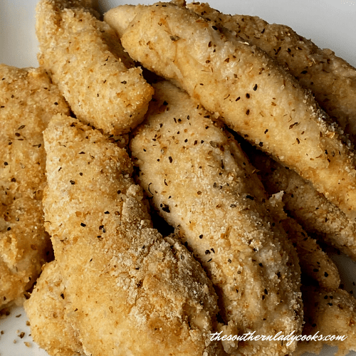 Cornmeal Baked Chicken - The Southern Lady Cooks