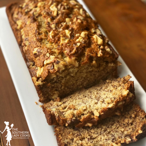 Mayonnaise Banana Bread - The Southern Lady Cooks