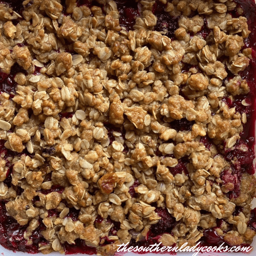 Easy Blackberry Crisp - The Southern Lady Cooks