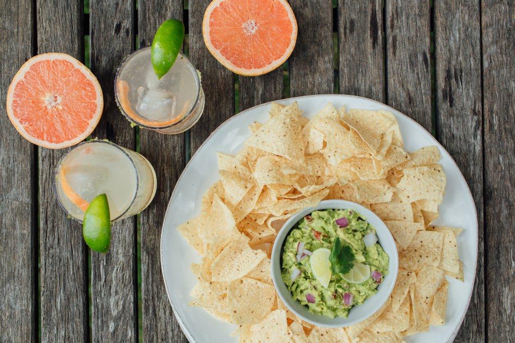 margarita and guacamole