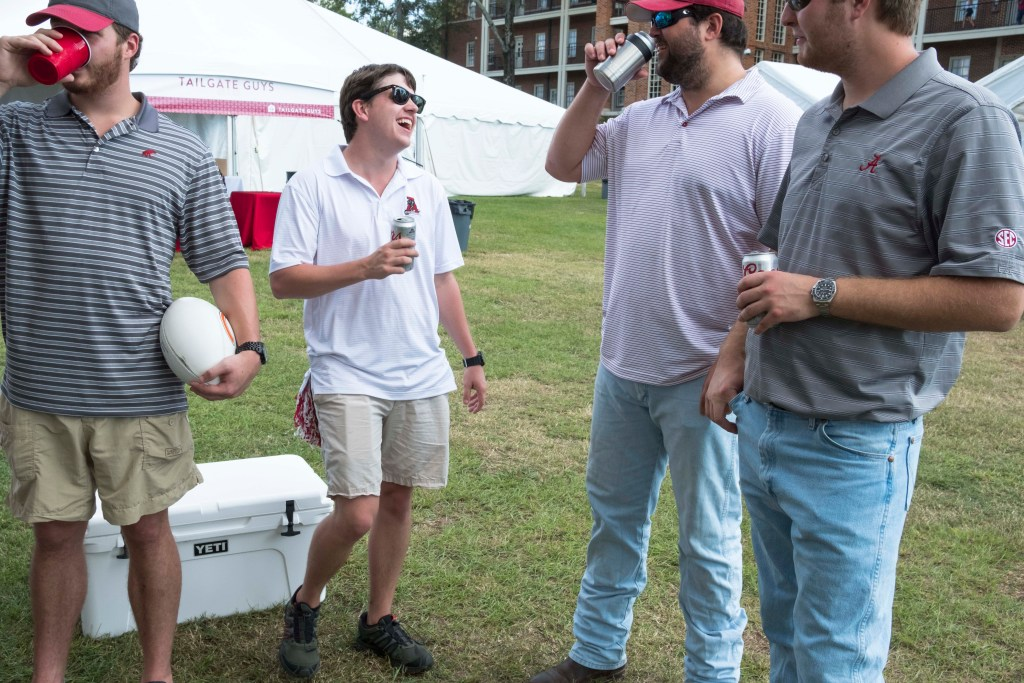 Tuscaloosa frat brothers tailgating