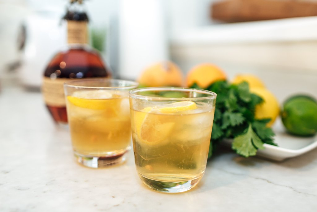 bourbon lemon and tonic holiday cocktail recipe