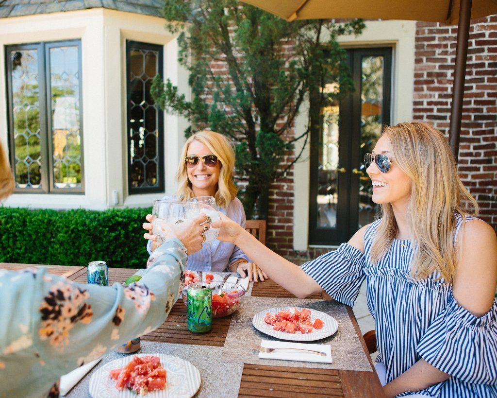 outdoor entertaining recipes watermelon and feta salad