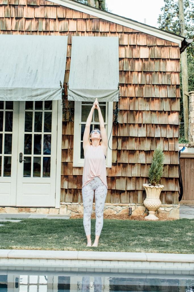 yoga poses cute athletic wear