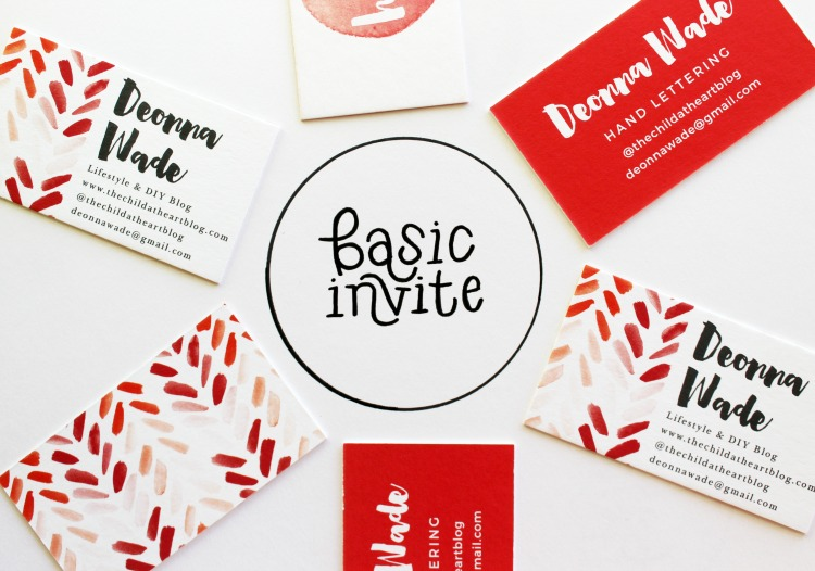 blogger business cards from Basic Invite