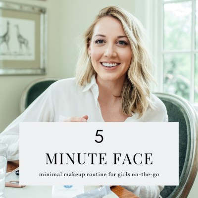 5 minute face skincare routine (1)