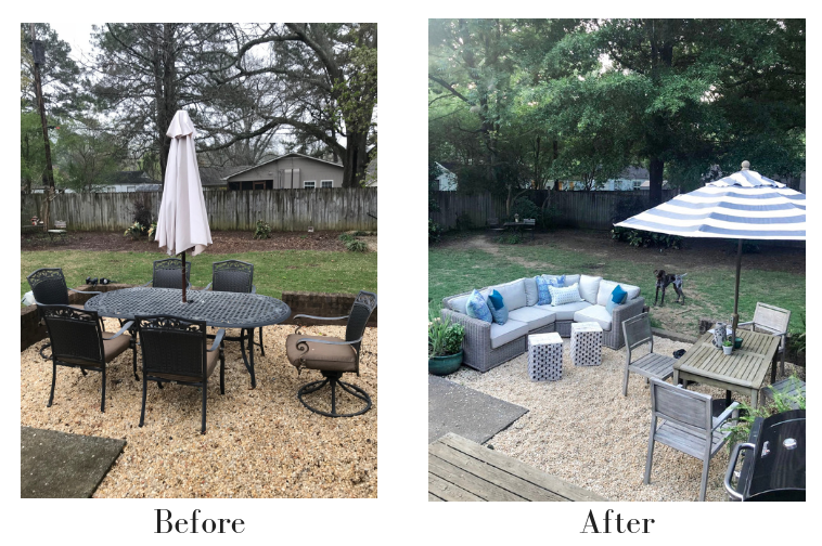 backyard patio ideas pea gravel
