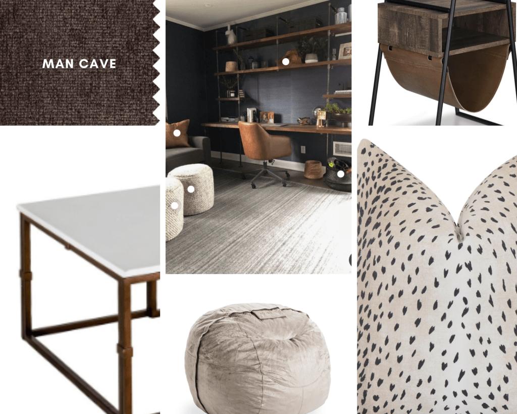 man cave masculine office design ideas
