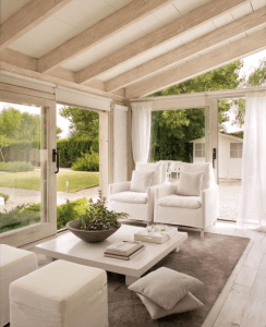 white outdoor furniture covered patio ideas