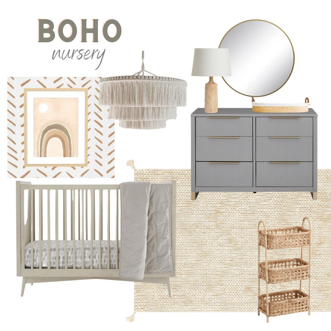 Boho nursery design ideas
