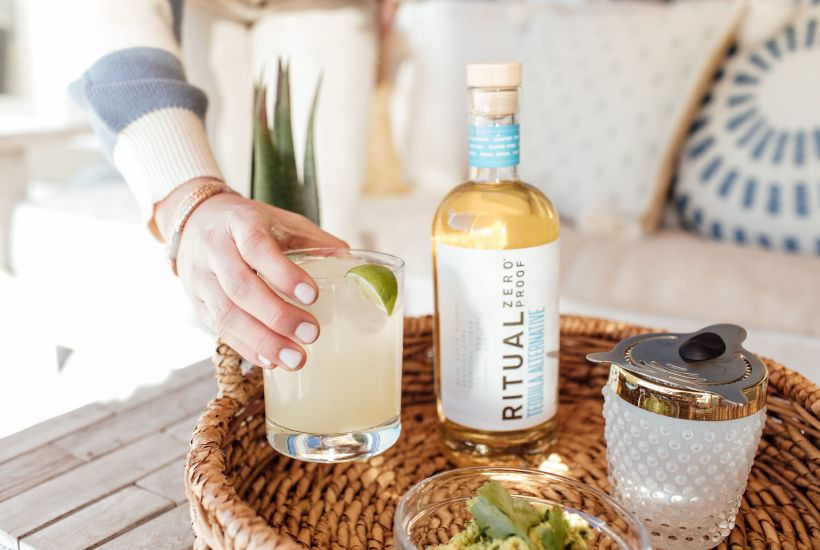 ritual zero proof tequila for mocktail recipes