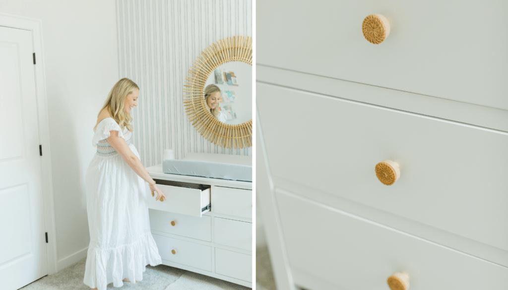 white nursery dresser