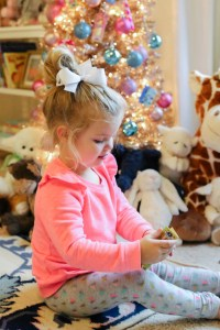 Little Girls' Colorful Christmas Tree | The Southern Style ...