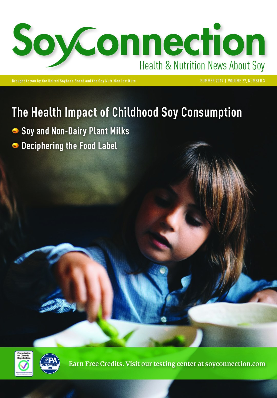 Soy Connection Childhood Soy Consumption