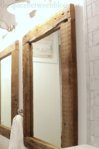 upcycling idea: DIY reclaimed wood framed mirrors
