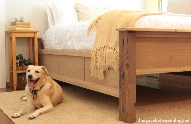 wood bed frame design plans