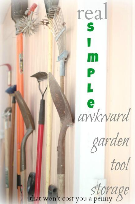 Simple Garden Tool Storage