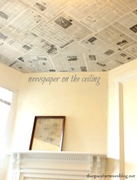 newspaper as a {creative wall covering}