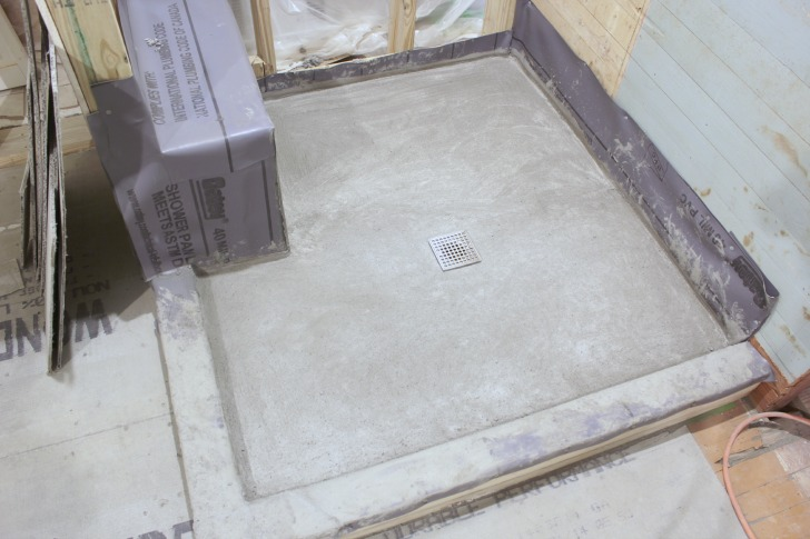 diy shower pan final steps the space