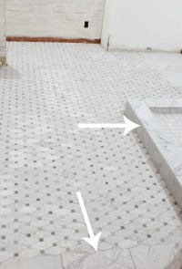 cutting, grouting and sealing marble tile tips