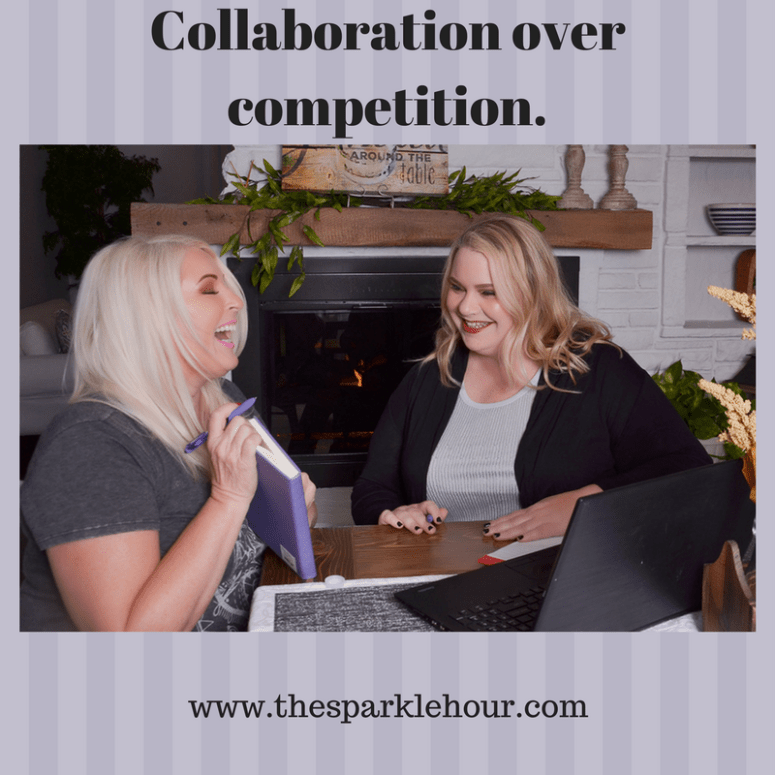 Collaboration over competition.