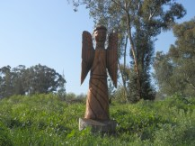 Angel carved out of wood