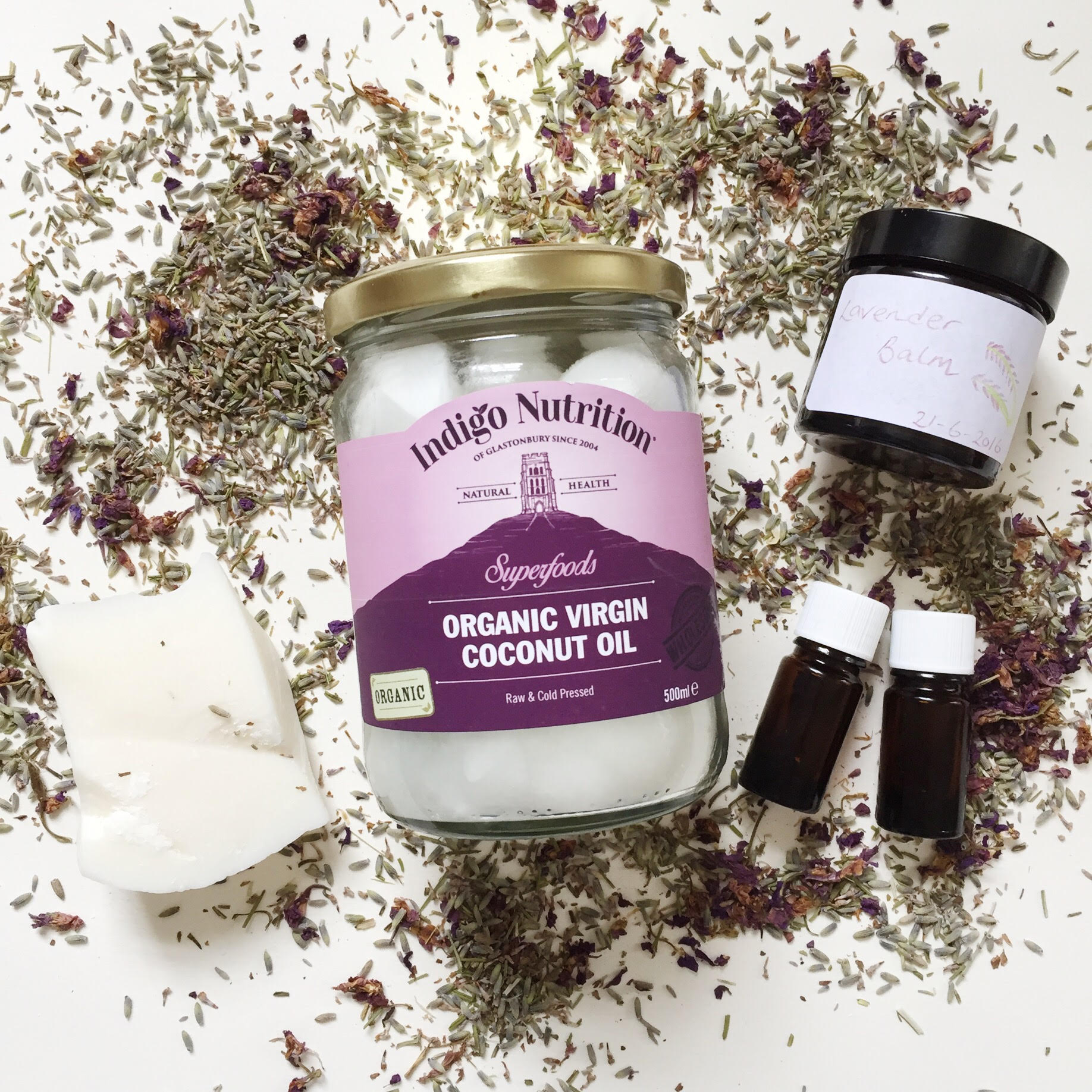 Handmade Coconut Lavender And Chamomile Balm The