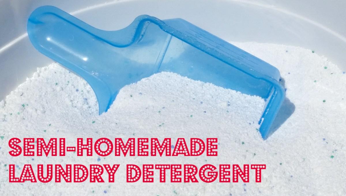 Semi-Homemade Laundry Detergent