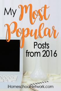 iHomeschool Network's Link Up of Most Popular Posts