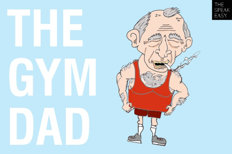 the gym dad