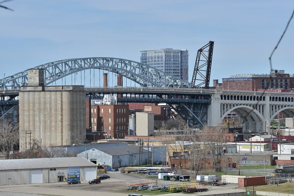 Businesses along the Cuyahoga River