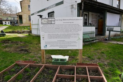 The community garden volunteers are trying to grow