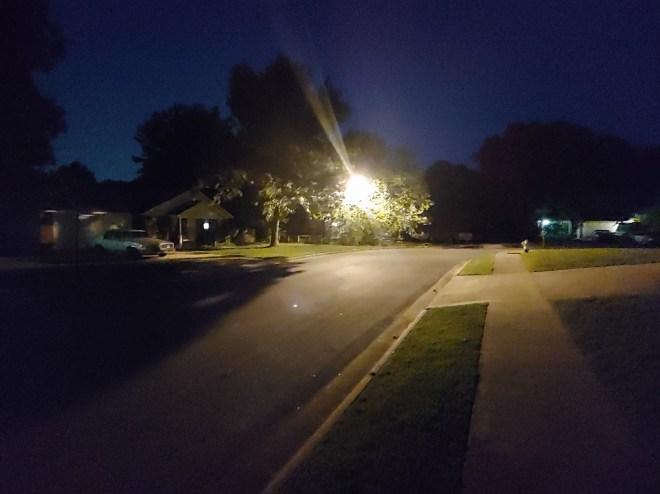 LG G7 ThinQ night photo - wide angle camera