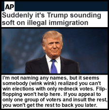Trump soft on immigration