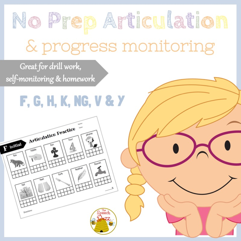 Articulation and Progress Monitoring
