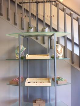 Display of Molly & Bella jewelry at The Beauty Room. Photo courtesy of Cleo Anderson