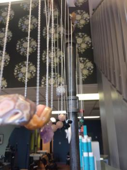 Necklaces on display at The Beauty Room. Photo courtesy of Cleo Anderson