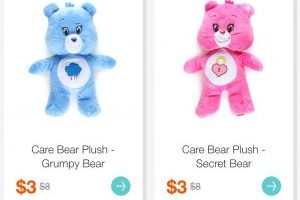 Care Bear Plush $3 (Regular $8)