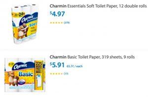 Charmin Stock Up Bath Tissue Deals – Walmart $3.91 & Safeway $4