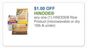 Hinode Rice Coupon