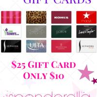 $25 Gift Card for $10 – Walmart, Kmart, Sears, Sephora, McDonalds & More!